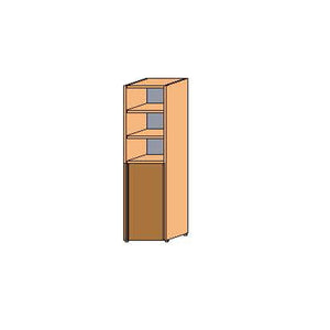 NORYA High Cabinet (0.6m) in American Black Walnut KCS6105