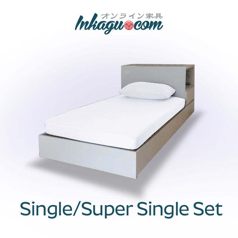 Inkagu® Tencel® SuperCool EasyCare™ Fitted Bedsheet + Pillow Case Bundle - 2-Piece/Pack (Single/Super Single) - Picket&Rail