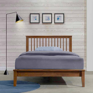 MISSION XII Solid Wood Single Bed