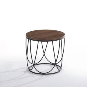 Solid Wood Round Side Table (MIT-5148) - Picket&Rail Singapore's Premium Furniture Retailer