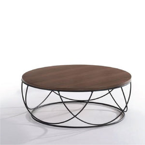 Solid Wood Round Coffee Table (MIT-5148) - Picket&Rail Singapore's Premium Furniture Retailer