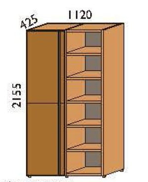 Norya 6-Tier Tall Cabinet - Double (KAS6205-1) - Picket&Rail Singapore's Premium Furniture Retailer