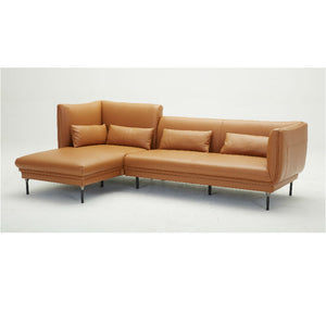 KUKA #KF.039 Full Top grain Leather Sofa (1.5/Corner-Seater, Chaise Lounge)( O Series )(I)