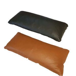 KUKA #KF.039 Full Leather Top grain Leather Kidney Pillow ( M Series )(I)