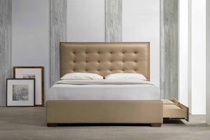 Kentridge Solid Wood with Upholstery Queen Bed - Picket&Rail Singapore's Premium Furniture Retailer