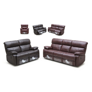KUKA #2559 V-Leather Recliner Sofa (3-Seater, Color: M9015 HL) - Picket&Rail Singapore's Premium Furniture Retailer