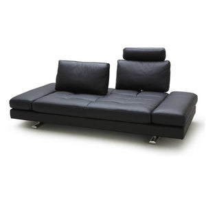 KUKA #1372 Top-Grain Leather Daybed Sofa (Color: M5655)