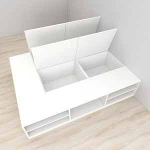 2020-Edition High Hygiene Anti-Microbial Tatami Storage Bed - Single/Super Single/Queen/King