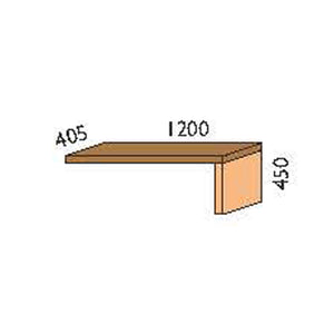 NORYA Lap Add-On for TV Cabinet in American Black Walnut KCT201