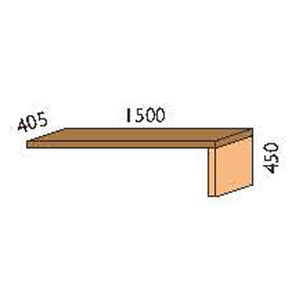 NORYA Lap Add-On for TV Cabinet in American Black Walnut KCT202