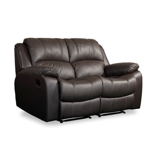 LUKE 3 Seater Half Leather Recliner Sofa Col: Brown 2012