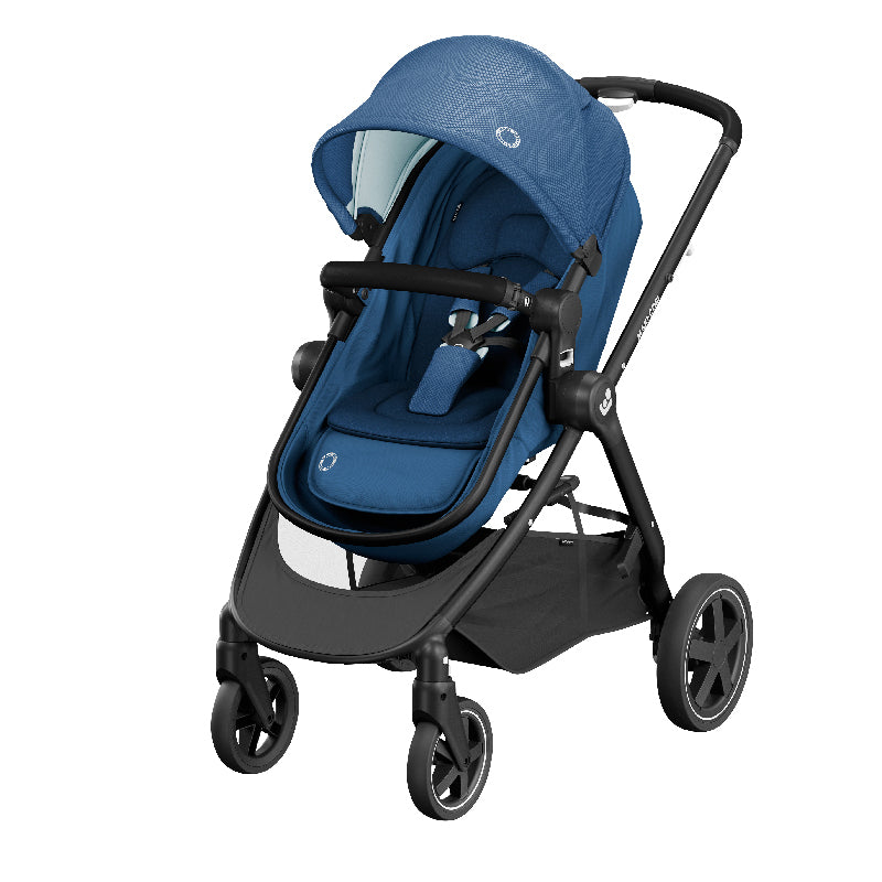 Maxi-Cosi Zelia Stroller - Essential Blue (0m-3.5y) (0-15kg) MC1210720301 - Picket&Rail
