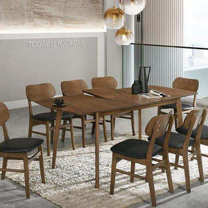 SARAH 1.4m ~1.8m Extendable Solid Wood Dining Table (MIT-3043-4) NEW