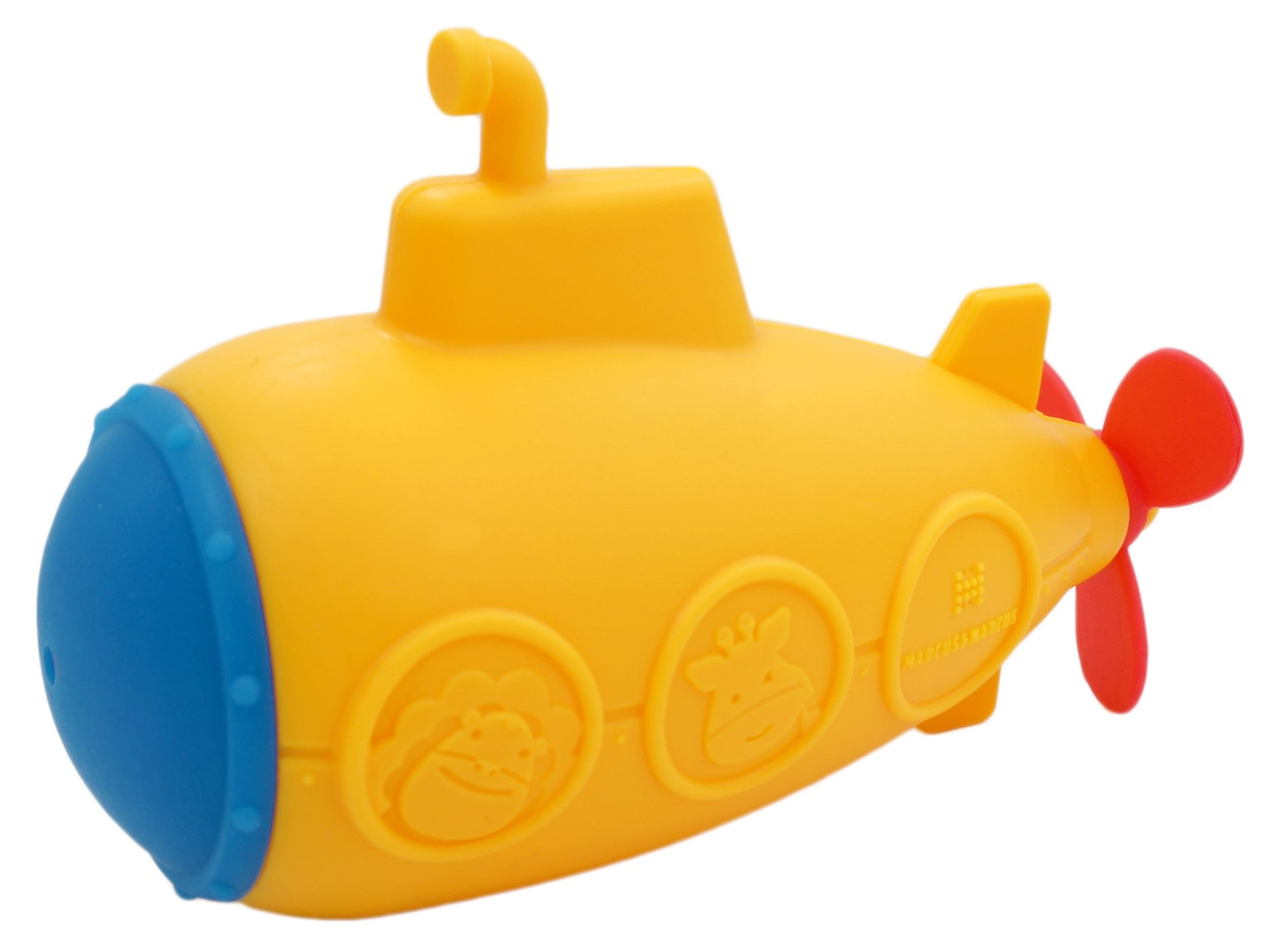 Safe Silicone and Mold Free Toy for Bath Time Submarine Marcus /& Marcus . Squirting Baby Bath Toy