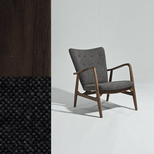 Nielsen Armchair (American Walnut/Fabric) - Picket&Rail Singapore's Premium Furniture Retailer