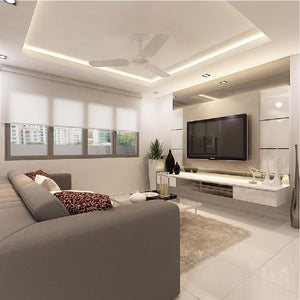 False Ceiling L-Box For Hall - 4 Room