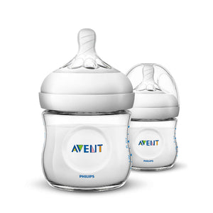 Philips Avent 125ml Natural Bottle - Twin Pack SCF690/23 - Picket&Rail