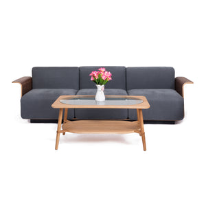 PLY 3-Seater Sofa in American Walnut (MCS-SD15234C-WAL-R1003)