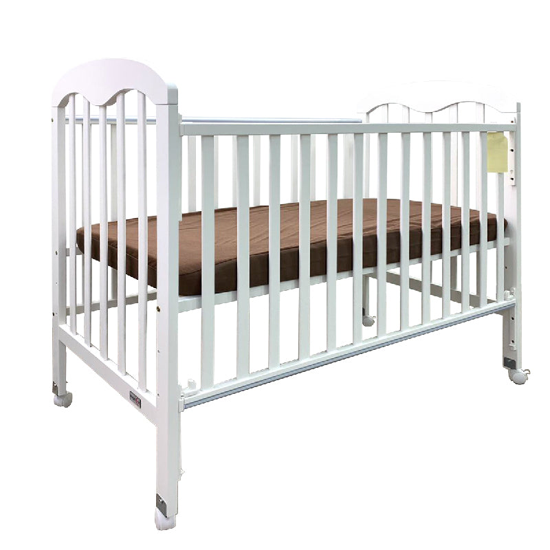 Anti-Microbial Solid Wood Baby Cot 823 (120X60cm) Col: White