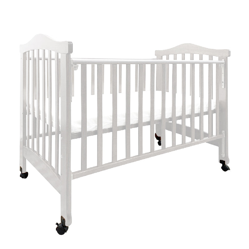 Anti-Microbial Solid Wood Baby Cot 872 (120x60cm) Col: White