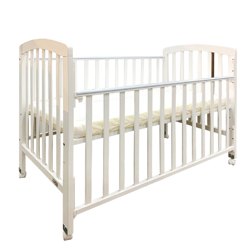 Anti-Microbial Solid Wood Baby Cot 892 (120x60cm) Col: White