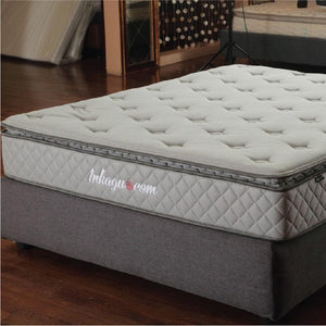 SHINJU Air I Activated Carbon-Infused Anti-Microbial Mattress - Charcoal Fabric Air-Gel Memory Foam Latex Individual Pocketed Spring