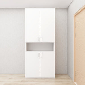 Customized Full-Height Shoe Cabinet - White **STARBUY**
