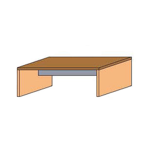 NORYA Study Desk (2.1m) in American Black Walnut KAZTS01