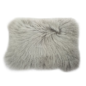 AB-T40186 Lamb Fur Rectangular Pillow - Grey