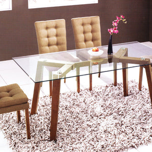 Harper Glasstop Dining Table + 4/6 Harper Chairs