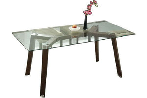 Harper 1.5m Glasstop Dining Table - Picket&Rail Singapore's Premium Furniture Retailer