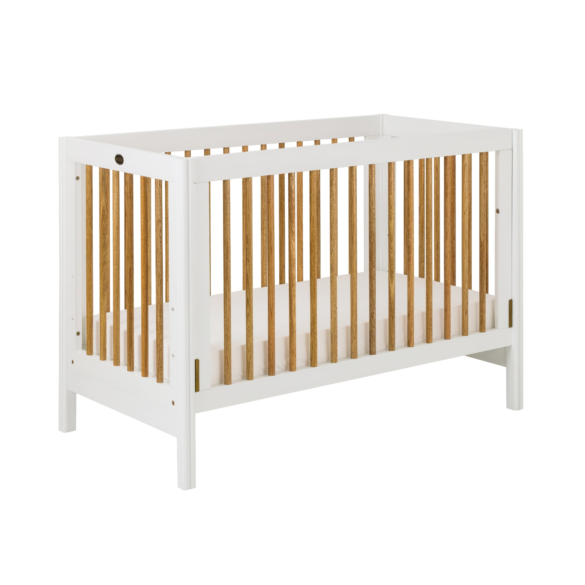 Clover Convertible Baby Cot (120x60cm) Col: White