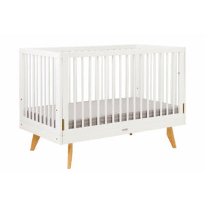 The Viggo Convertible Baby Cot (130X70CM) COL: WHITE