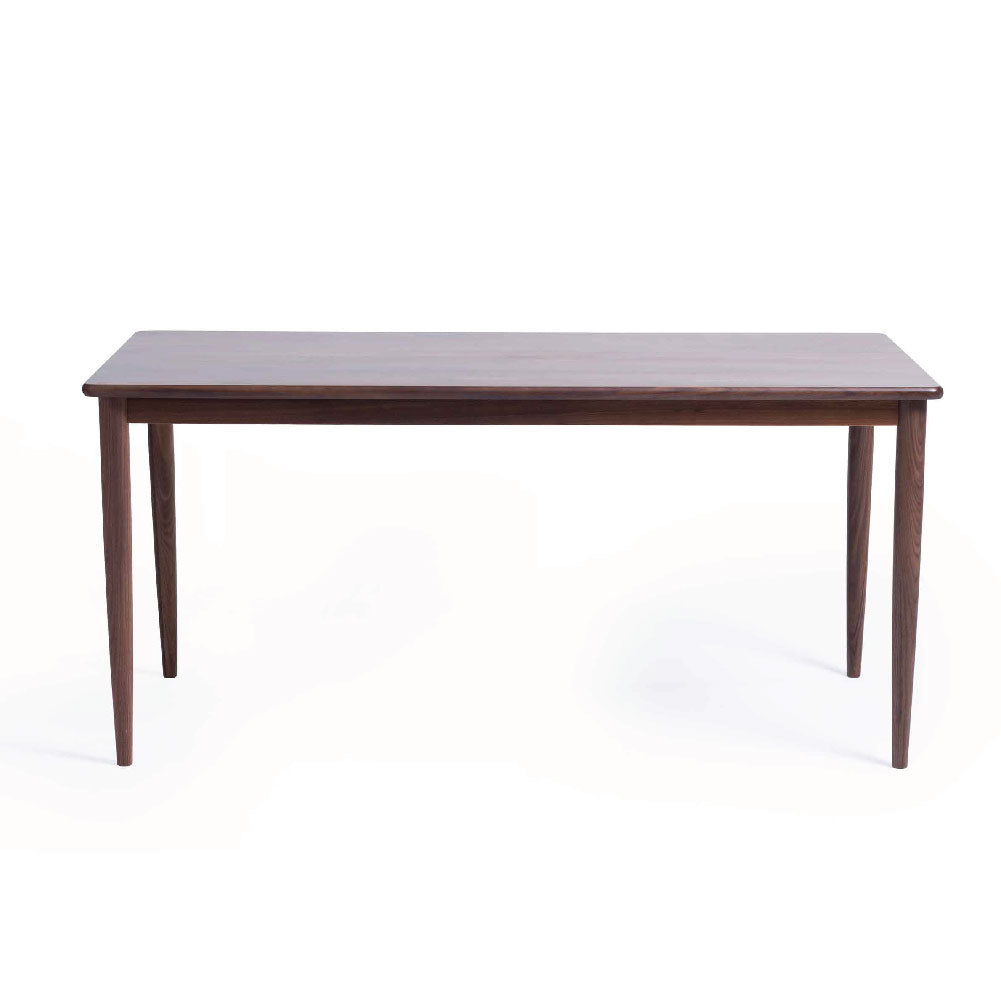 KAWAGUCHI 1.6m Solid Beech Stained in Walnut Dining Table (MCS-DT8299B-WAL-1600)