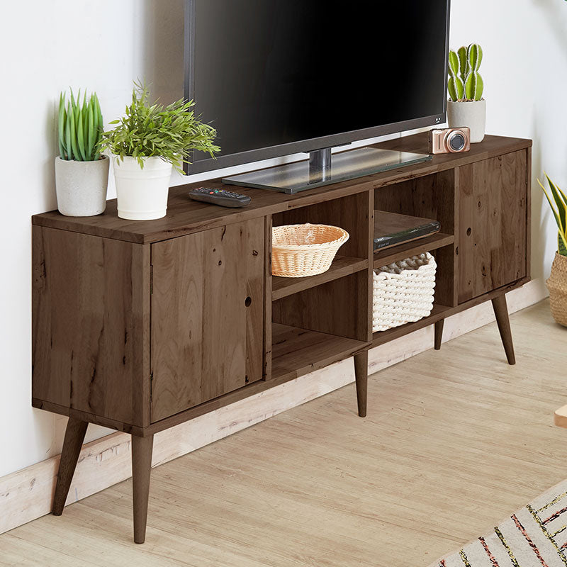 AMERICANA Solid Wood 2-Door 4-Shelves TV Cabinet (WIL-4785A) - Picket&Rail