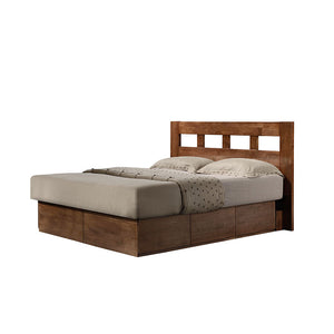 ASHTON Solid Wood King Plaform Storage Bed - Picket&Rail