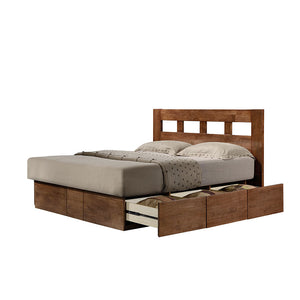 ASHTON Solid Wood King Plaform Storage Bed