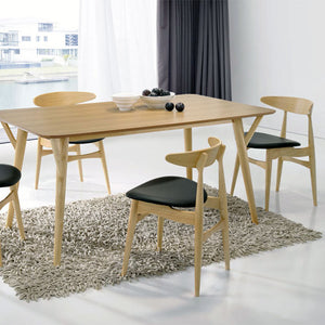 BARBARA 1.6m Dining Table 7pcs Set (Oak) (Mit8010+6 x MI-900 )