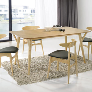 BARBARA 1.4m Dining Table + 4 Dining Chairs (Oak)