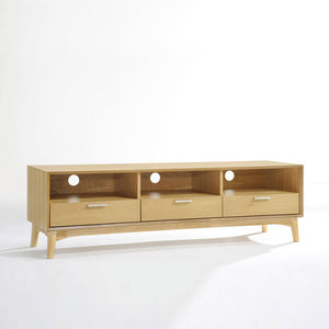 BARBARA 3-Drawer TV Cabinet - Walnut/Oak