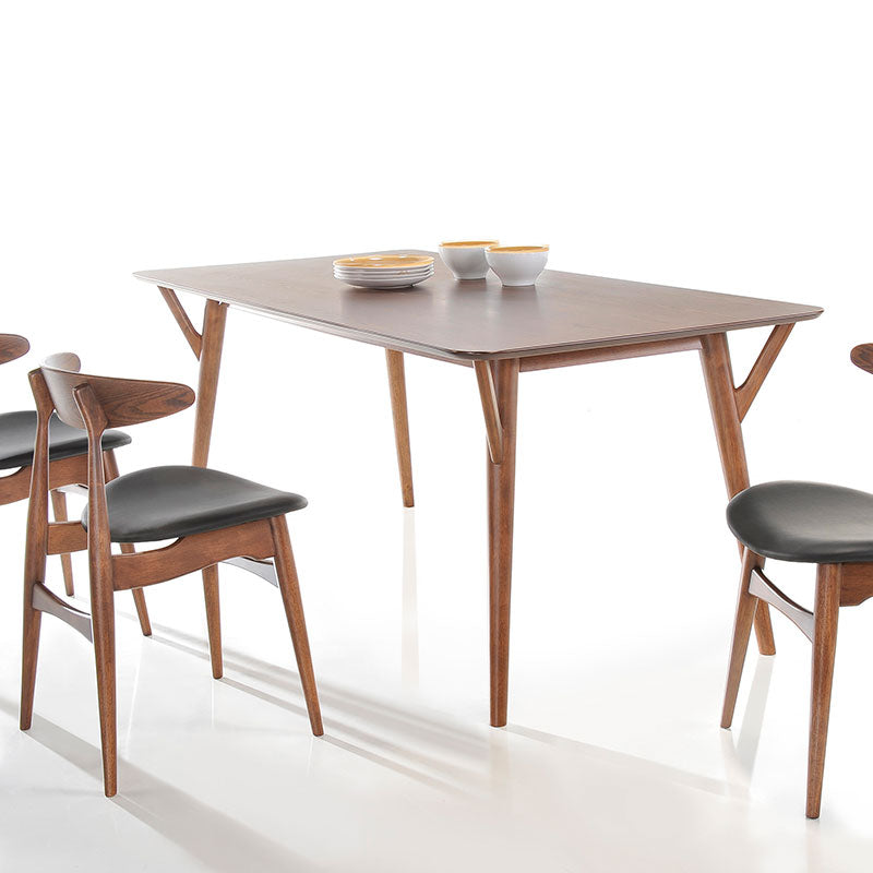 Outstanding Barbara 1 4M Dining Table 4 Dining Chairs Walnut Caraccident5 Cool Chair Designs And Ideas Caraccident5Info