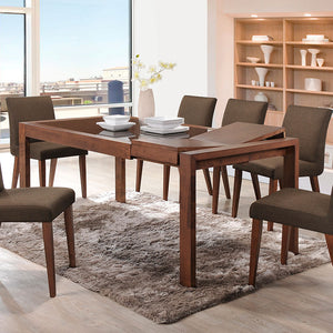 BRANDON 1.4m Extendable Glasstop Dining Table + 6 Dining Chairs