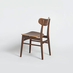 DANISH Dining Chair in Beech Stained Walnut (MCS-CH9332B-WAL)