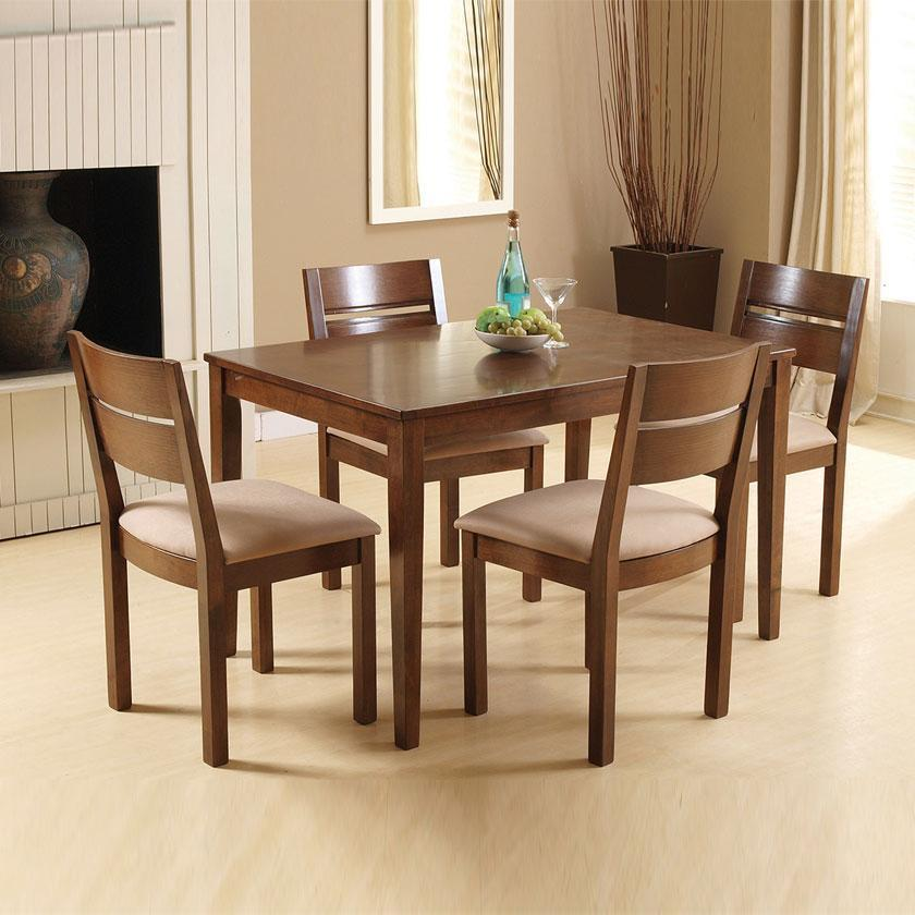 Envy 12m Solid Wood Dining Table 4 Dining Chairs
