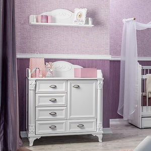 ANGEL Baby Chest with Wall Hanging Shelf (HL-2542 + HL-2563)