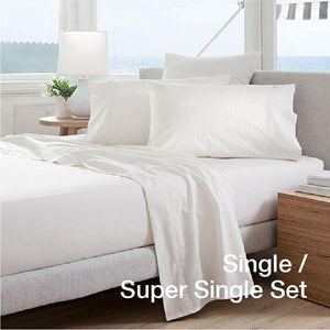 [2PC BEDSHEET SET - SINGLE/SUPER SINGLE ONLY] Anti-Aging Zinc-Oxide Super Cool Tencel® Bedsheet with Anti-Bedbug & Anti-Bacterial Protection - Inkagu - Shop Furniture Online