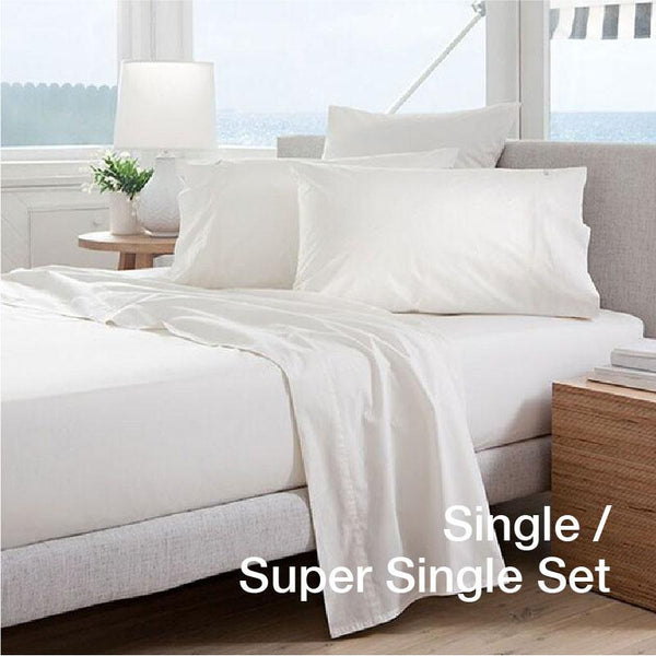 [2PC BEDSHEET SET - SINGLE/SUPER SINGLE ONLY] Anti-Aging Zinc-Oxide Super Cool Tencel® Bedsheet with Anti-Bedbug & Anti-Bacterial Protection