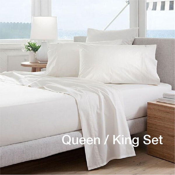 [3PC BEDSHEET SET - QUEEN/KING ONLY] Anti-Aging Zinc-Oxide Super Cool Tencel® Bedsheet with Anti-Bedbug & Anti-Bacterial Protection
