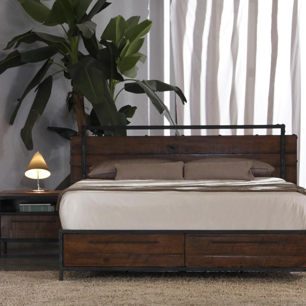 Bedroom Furniture Chicago: CHICAGO Solid Wood King Bed With Drawers