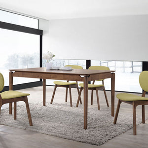 JULIA 1.2m Solid Wood Dining Table + 4 Dining Chairs